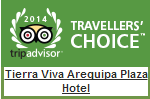 TripAdvisor Travellers Choice badges 2014 arequipa plaza hotel