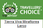 TripAdvisor Travellers Choice badges 2014 miraflores larco hospedaje lima